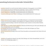"""[Neu] Linksammlung """"Horizonterweiternde Zeitschriften"""""""